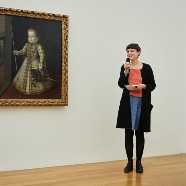 Cornelia\'s sehr eindrückliche Rede zum Gemälde von Alonso Sanchez Coello, welches im Kunstmuseum Liechtenstein zu besichtigen ist. - Cornelia macht sich Gedanken zur Kindererziehung und der Gesellschaft generell