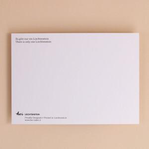 """Postkarte """"Es gibt nur ein Liechtenstein"""""""