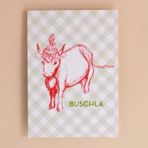 Alpine Postkarte Kuh Liechtenstein