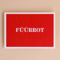 Postkarte «Füürrot»