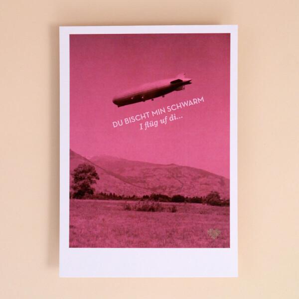 Postkarte «Du bischt min Schwarm»