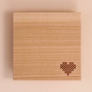 Untersetzer Holz: Herz