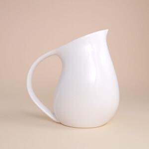 EM Keramik Pinguinkrug 1,5 L Weiss glänzend