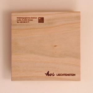 Untersetzer Holz Set: Krone 4x