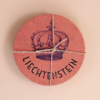 Untersetzer Karton Set Liechtenstein Krone 3x2