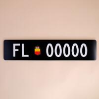 Autonummernschild FL: Gross
