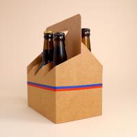 Liechtensteiner Bier: Sixpack mit Wurst