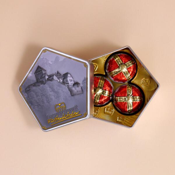 Fürstenhütchen Schokoladenbox Schloss Vaduz