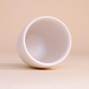 EM Keramik Becher: 3 dl Weiss
