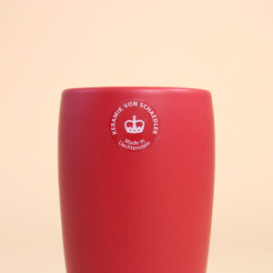 EM Keramik Becher: 3 dl Rot