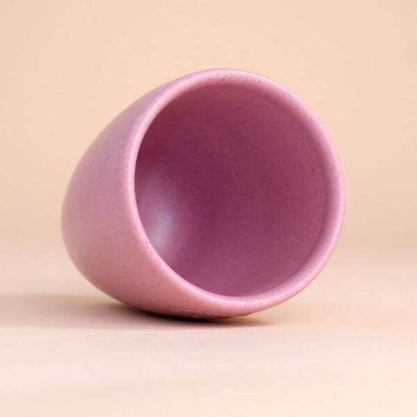 EM Keramik Becher: 3 dl Flieder