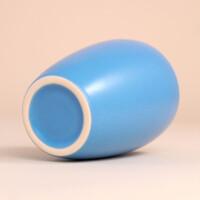 EM Keramik Becher: 3 dl Hellblau