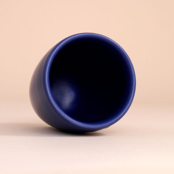 EM Keramik Becher: 3 dl Dunkelblau