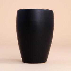 EM Keramik Becher: 1,5 dl Schwarz
