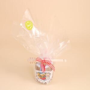 Geschenkset: Liechtensteiner Bienenhonig (500gr.) & Honigdreher