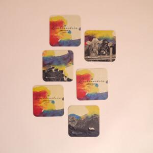 Untersetzer Karton Set Liechtenstein Aquarell 3x2