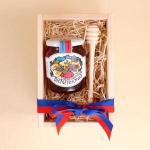 Geschenkbox: Liechtensteiner Bienenhonig (500gr.) &...