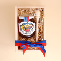 Geschenkbox: Liechtensteiner Bienenhonig (500gr.) & Honigdreher