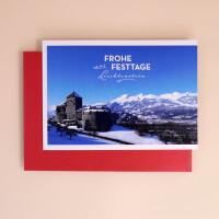 """Klappkarte A5 """"Frohe Festtage aus Liechtenstein"""" Schloss Vaduz"""