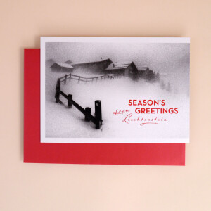 "Klappkarte A5 ""Seasons Greetings from Liechtenstein"" Steg"