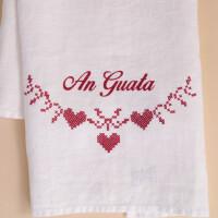 Geschirrtuch Leinen Weiss: «An Guata»