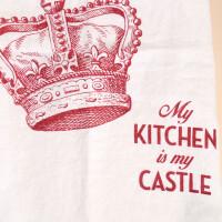 Geschirrtuch Leinen Weiss: «My Kitchen is...»