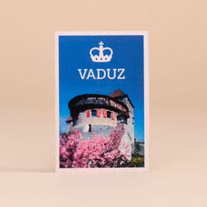 Holzmagnet Vaduz Schlossblick