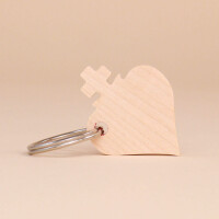 Schlüsselanhänger Holz Glücksbringer Alpherz