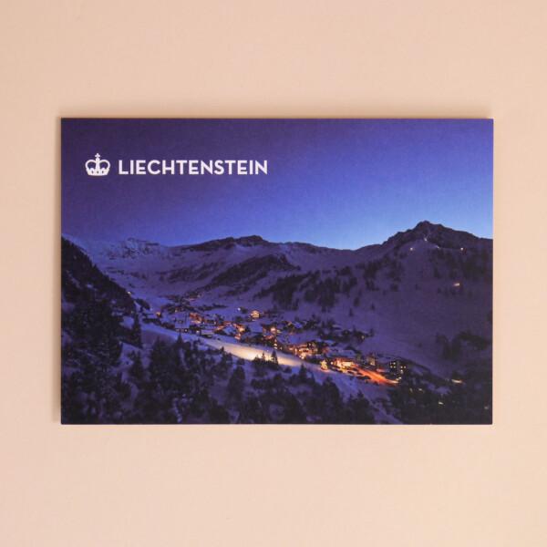 """Postkarte """"Malbun Lichter"""""""