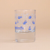 Schnapsglas Kronenmuster: Blau
