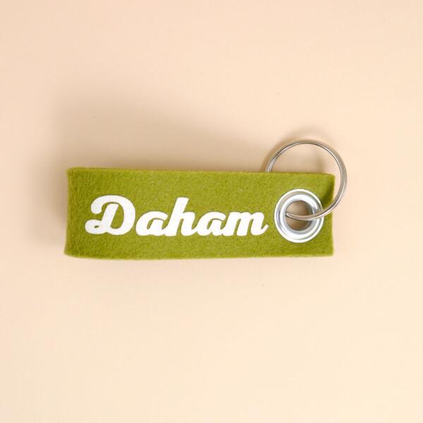 Schlüsselschlaufe Filz: «Daham»