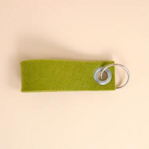 Schlüsselschlaufe Filz: «Daham» Grün