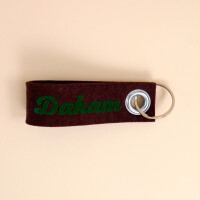Schlüsselschlaufe Filz: «Daham» Braun