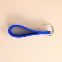 Schlüsselschlaufe Filz: «Dahäm» Blau