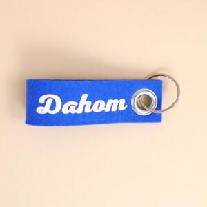 Schlüsselschlaufe Filz: «Dahom» Blau