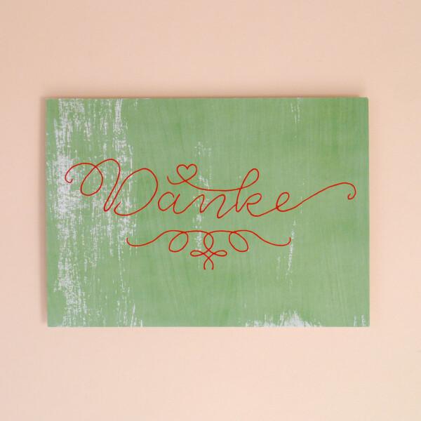 Postkarte_Danke_Grün