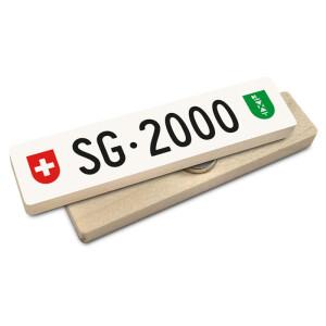 Hoi Schweiz Holzmagnet: SG Autonummer Jahrgang 2000