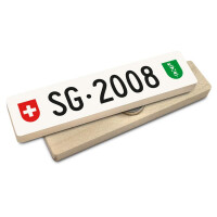 Hoi Schweiz Holzmagnet: SG Autonummer Jahrgang 2008