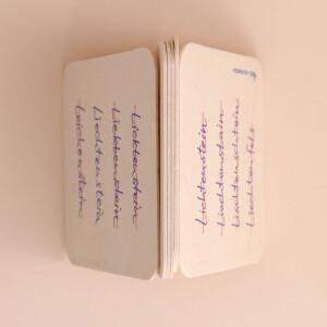 Untersetzer Karton Set Es gibt nur ein Liechtenstein 6x