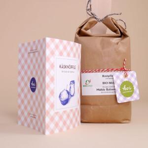 Käseknöpfle-Set (Knöpfle-Mehl, Kochlöffel und Rezept