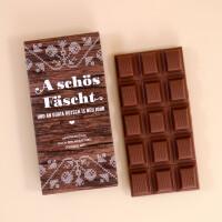 """Schokolade Weihnachten """"A schös Fäscht"""" Holzoptik"""