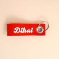 Schlüsselband Dialekt rot Dihai