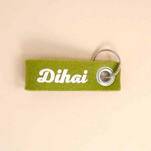 Schlüsselschlaufe Dialekt grün Dihai