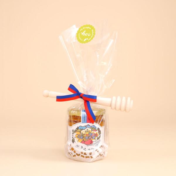 Geschenkset: Liechtensteiner Bienenhonig (250gr.) & Honigdreher