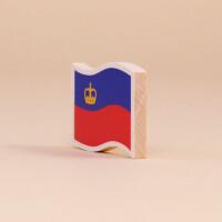 "Holzmagnet ""Liechtenstein Flagge"""