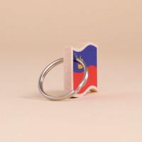 Schlüsselanhänger Holz «Liechtenstein Flagge»