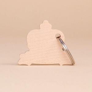 Schlüsselanhänger Holz Liechtenstein Krone