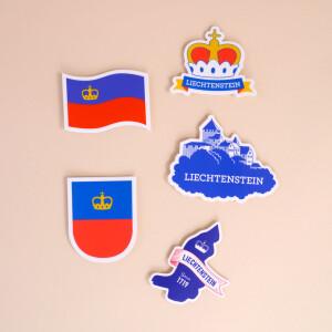 Sticker Liechtenstein: «Flagge»