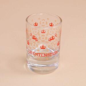 Schnapsglas Kronenmuster: Rot