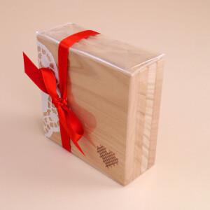 Untersetzer Holz Set: Herz 4x